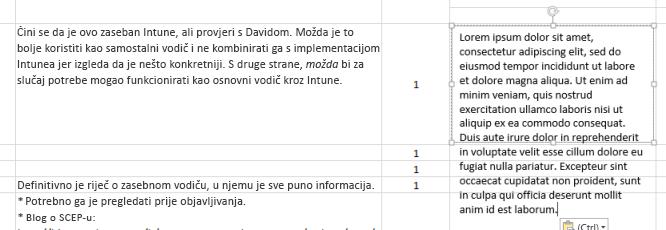 U tekstni je okvir zalijepljen novi tekst.
