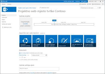 Predložak web-mjesta za vođenje projekta