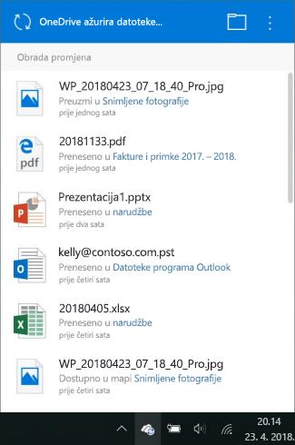Obrada OneDrive promjene zaslona