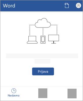 Prijavite se pomoću Microsoftova računa ili pomoću računa sustava Office 365 za tvrtke ili obrazovne ustanove.