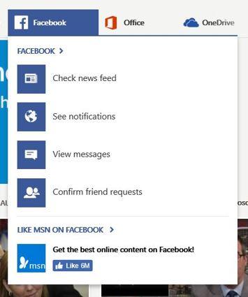 Početna stranica MSN, Facebook za prijavu