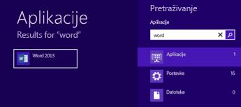 Pokretanje sustava Office u sustavu Windows 8 ili RT