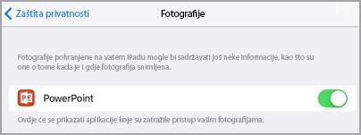 Pristup fotografijama