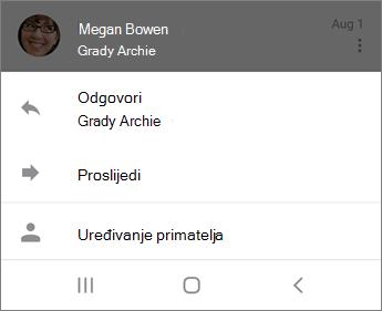 Odgovaranje na e-poštu u aplikaciji Outlook Mobile
