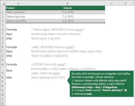 Besplatna web stranica s datumom pretraživanja