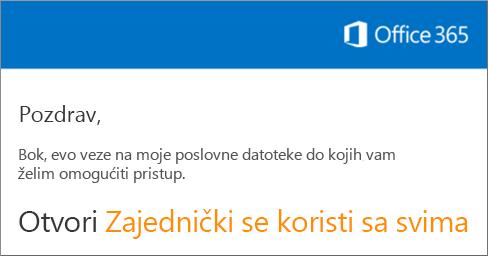 Otvorite poruku e-pošte, a zatim kliknite Otvori web-mjesto.