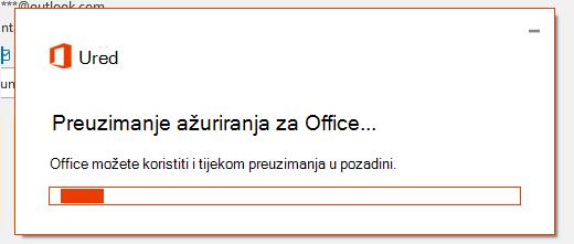 Dijaloški okvir za preuzimanje ažuriranja sustava Office