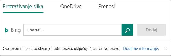 Slika mogućnosti za Microsoft Forms umetanja
