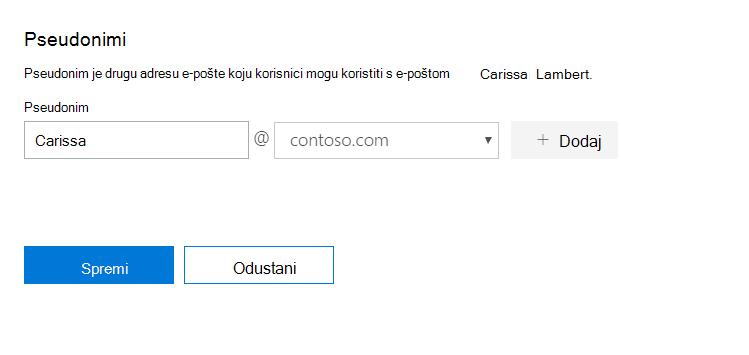 Novo korisničko ime