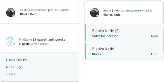 Snimka zaslona aktivnosti MyAnalytics e-pošte