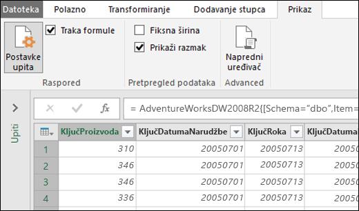 Power Query – font fiksne širine za pretpregled uređivača upita