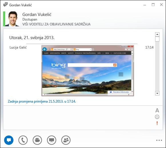 Snimka zaslona s umetnutim slikama