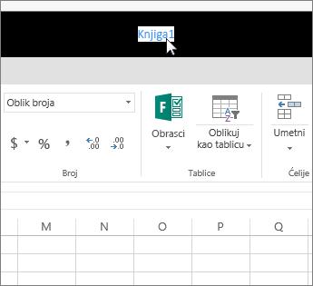 Pokazivač i klik na naziv datoteke
