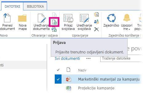 Prijava datoteke