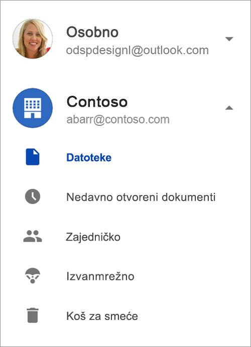 OneDrive za tvrtke.