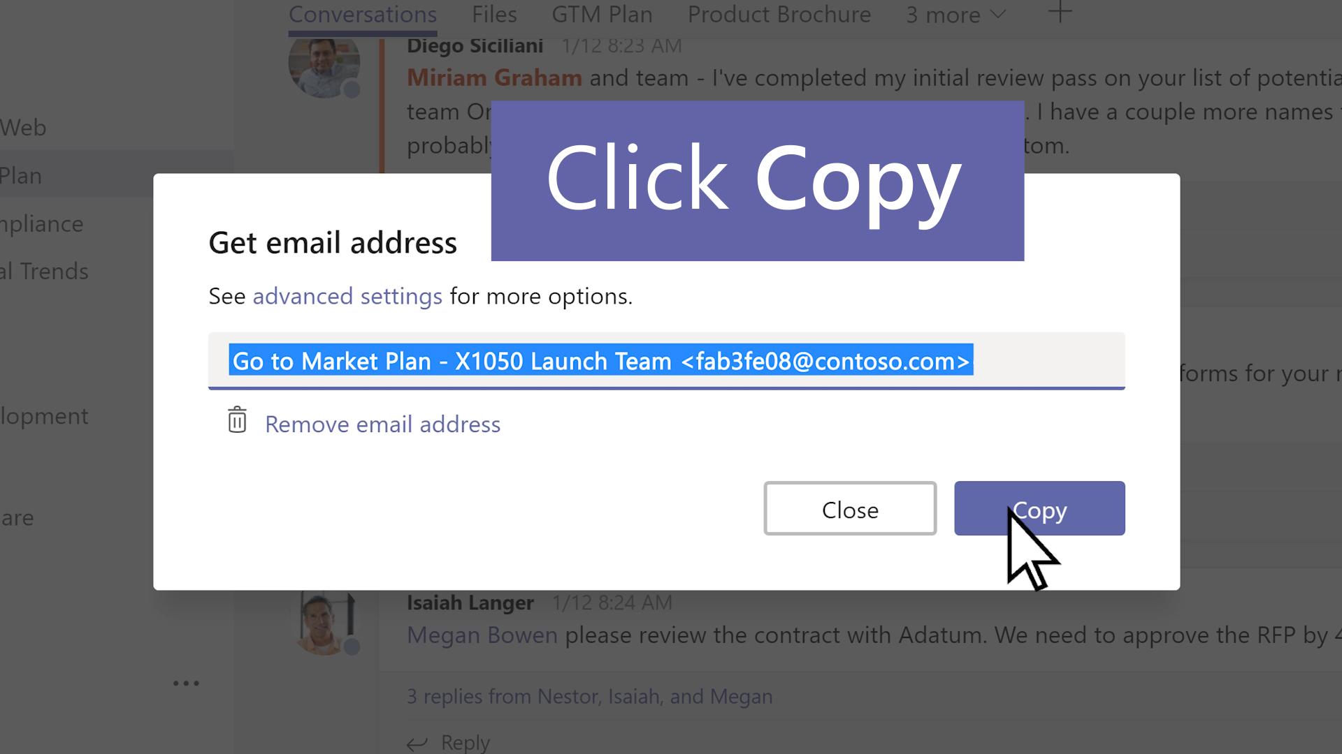 Šaljite e-poštu kanalu