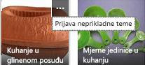 Kliknite naredbu Više (...) u gornjem desnom kutu bilo koje stavke da biste je prijavili kao neprikladan sadržaj.