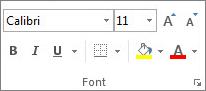 Grupa Font na kartici Polazno