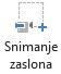 Gumb Snimanje zaslona na kartici Snimanje u aplikaciji PowerPoint 2016