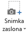 Gumb snimka zaslona na kartici snimanje u programu PowerPoint 2016