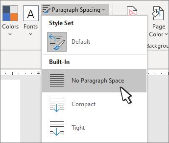 Postavljanje jednostrukog razmaka na dokumentu