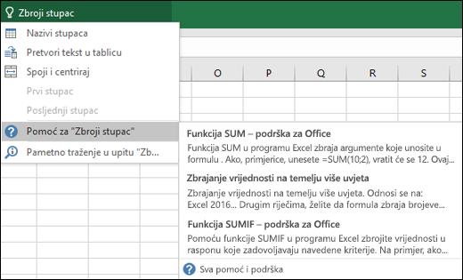 Kliknite okvir za vođenje kroz kontrole u programu Excel i unesite što želite učiniti. Vođenje kroz kontrole pokušat će vam pomoći da obavite taj zadatak.
