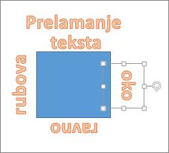 Dodavanje WordArta oko oblika s ravnim rubova