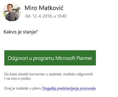 Snimke zaslona: prikazuje primjer možete dobiti grupne poruke e-pošte.