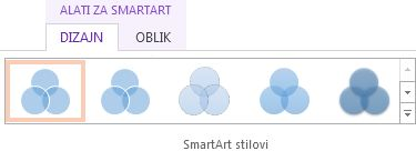 grupa smartart stilova na kartici dizajn u odjeljku alati za smartart