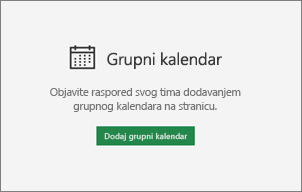 Dodavanje grupnog kalendara