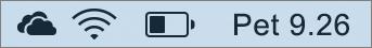 Ikona servisa OneDrive u paleti sustava Mac