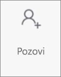 Gumb Pozovi osobe u aplikaciji OneDroid za Android