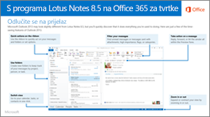 Minijatura vodiča za prebacivanje s programa IBM Lotus Notes na Office 365