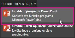 Uredi u programu PowerPoint za stolna računala
