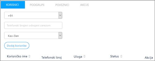 Snimka zaslona: Dodavanje korisnika u grupe Kaizala