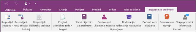 Kartica Bilježnica za predmet.