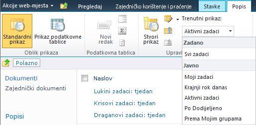 prikazi popisa programa sharepoint designer