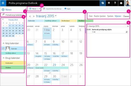 Pomoću kalendara upravljajte sastancima i drugim događajima.