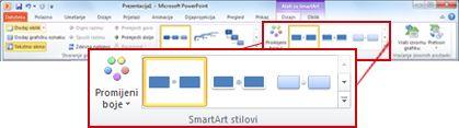 Kartica Dizajn u odjeljku Alati za SmartArt