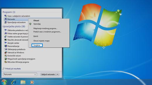 Upravljačka ploča u operacijskom sustavu Windows 7