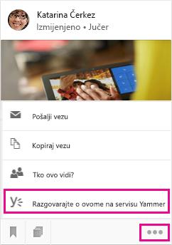 Kliknite da biste otvorili servis Yammer