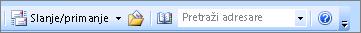 Okvir za pretraživanje u programu Outlook 2007 adresa adresara