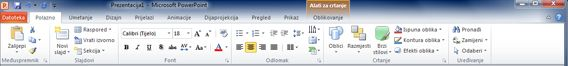 Snimka zaslona s ikonom programa Lync