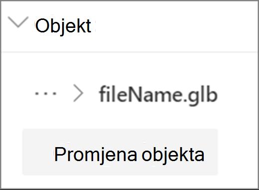 Promjena UI-ja objekta