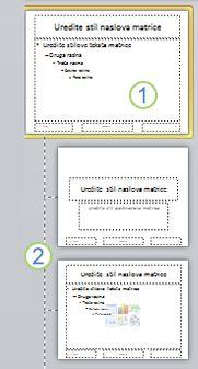 Matrica slajdova s rasporedima