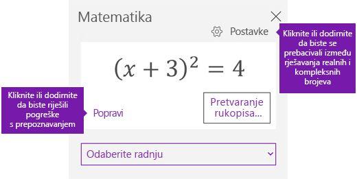U oknu zadatka matematičkih jednadžbi