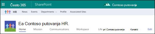 Zajedničko korištenje web-mjesta sustava SharePoint Hub