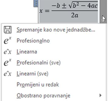 Linearni mogućnosti i Professional zaslona