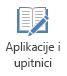 Gumb aplikacije i testove na kartici snimanje u programu PowerPoint 2016