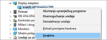 Otvorite upravitelj uređaja u sustavu Windows da biste upravljali upravljačkim programima grafičke kartice.